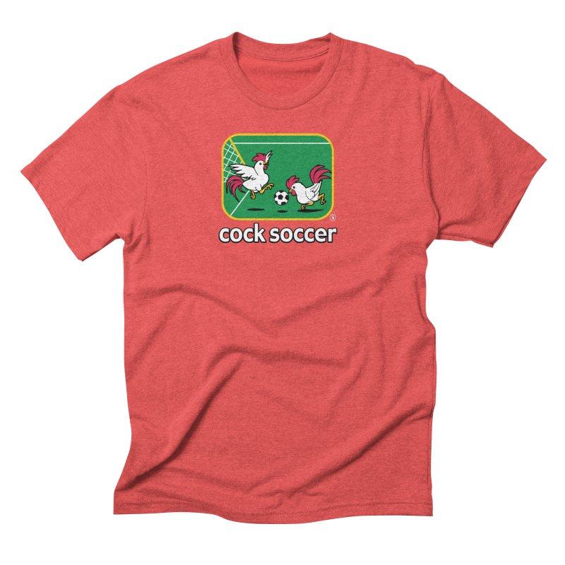 COCK SOCCER Men's Triblend T-shirt by Tripleta Gourmet Clothing