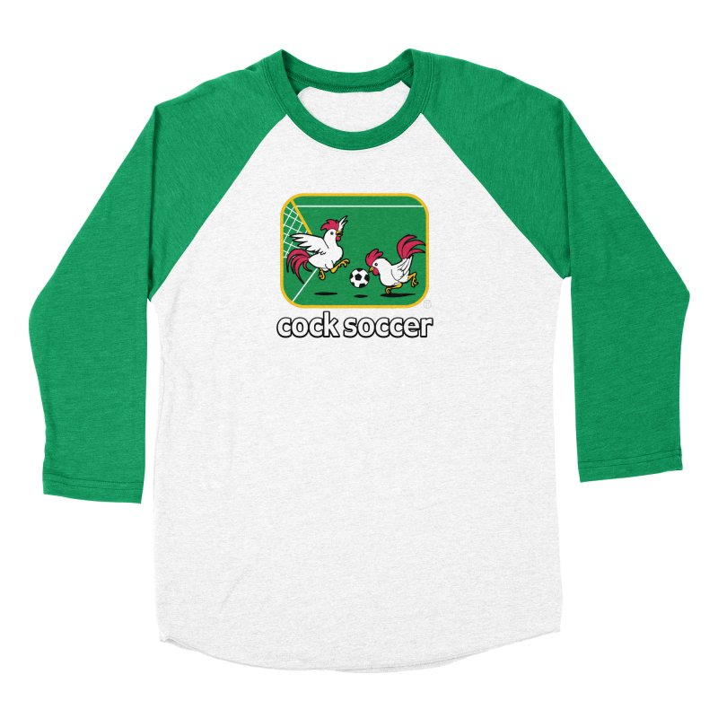 COCK SOCCER Men's Baseball Triblend T-Shirt by Tripleta Gourmet Clothing