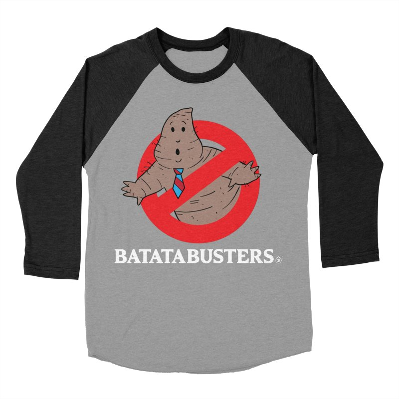 BATATA BUSTERS Women's Baseball Triblend T-Shirt by Tripleta Gourmet Clothing
