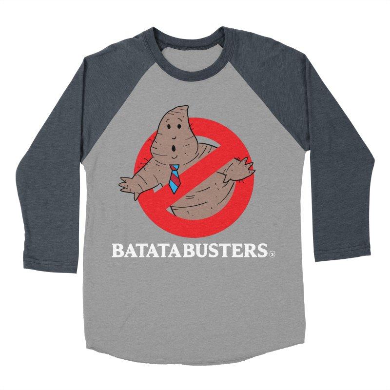 BATATA BUSTERS Women's Baseball Triblend Longsleeve T-Shirt by Tripleta Gourmet Clothing
