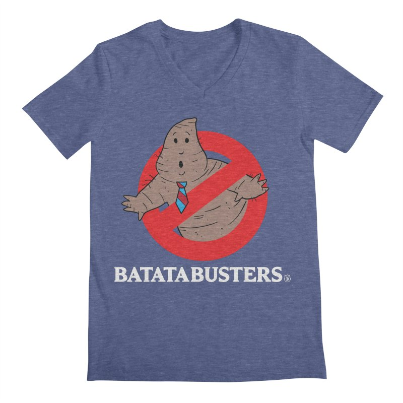 BATATA BUSTERS Men's Regular V-Neck by Tripleta Gourmet Clothing