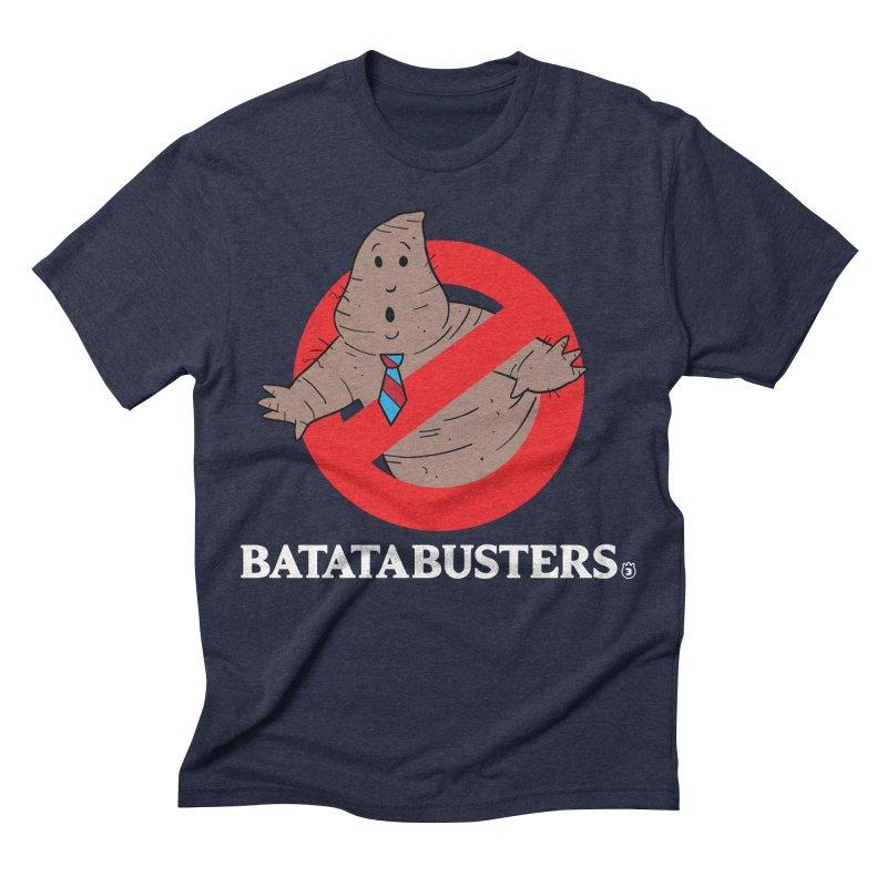 BATATA BUSTERS Men's Triblend T-shirt by Tripleta Gourmet Clothing