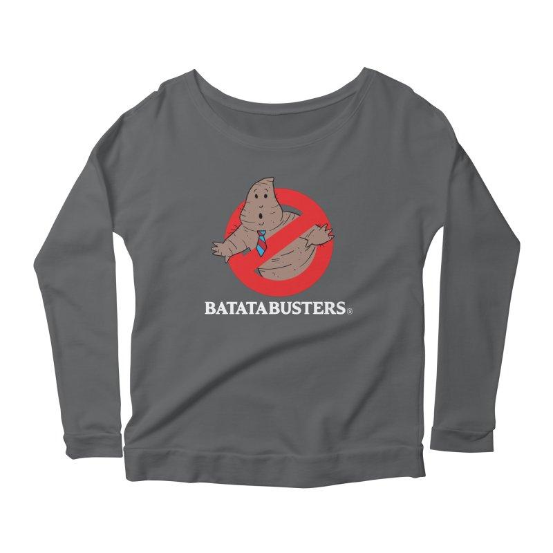 BATATA BUSTERS Women's Scoop Neck Longsleeve T-Shirt by Tripleta Gourmet Clothing