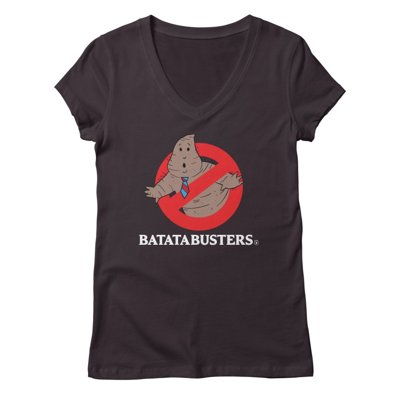 BATATA BUSTERS Women's V-Neck by Tripleta Gourmet Clothing