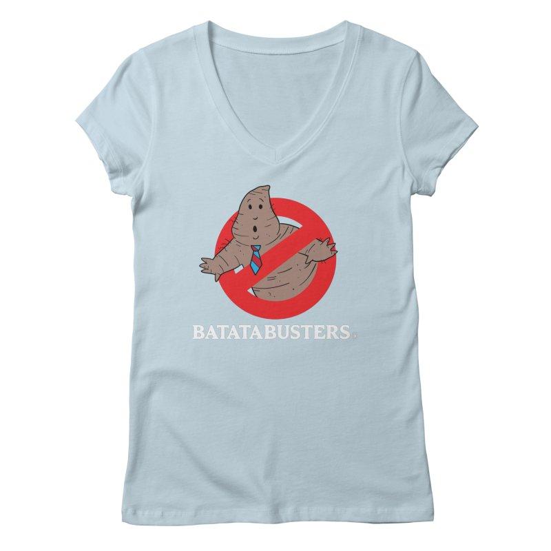 BATATA BUSTERS Women's Regular V-Neck by Tripleta Gourmet Clothing