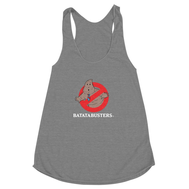 BATATA BUSTERS Women's Racerback Triblend Tank by Tripleta Gourmet Clothing