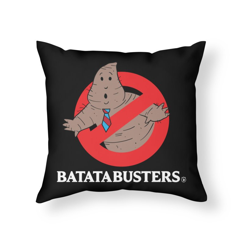 BATATA BUSTERS Home Throw Pillow by Tripleta Gourmet Clothing