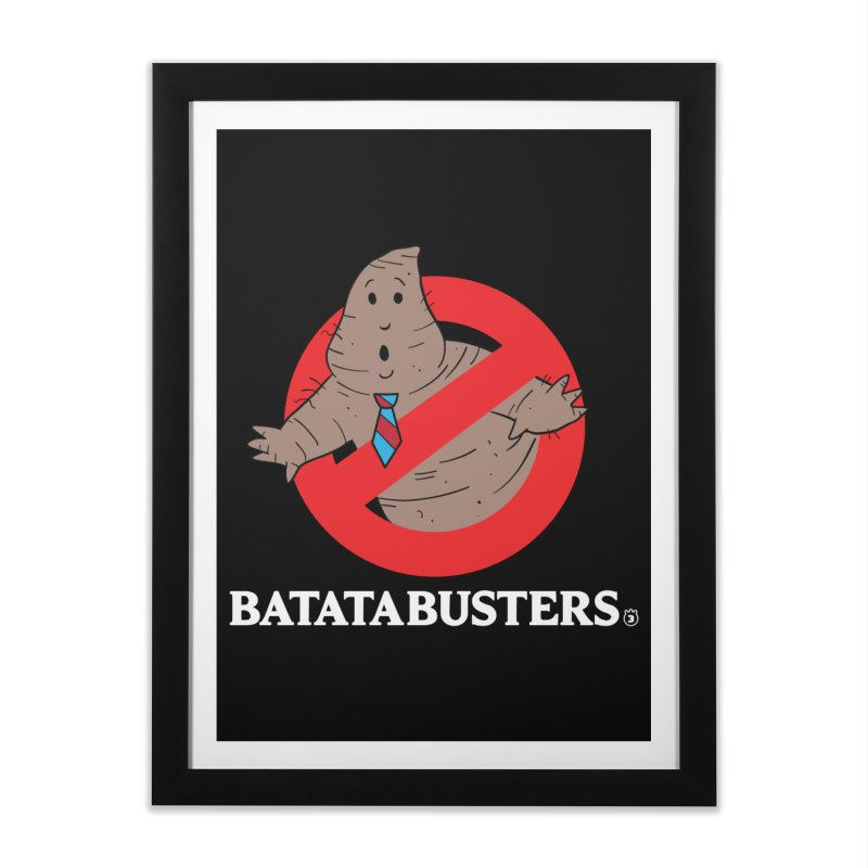BATATA BUSTERS Home Framed Fine Art Print by Tripleta Gourmet Clothing