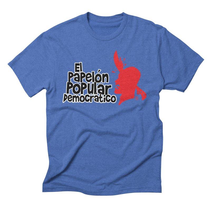 PAPELON POPULAR Men's Triblend T-Shirt by Tripleta Studio Shop
