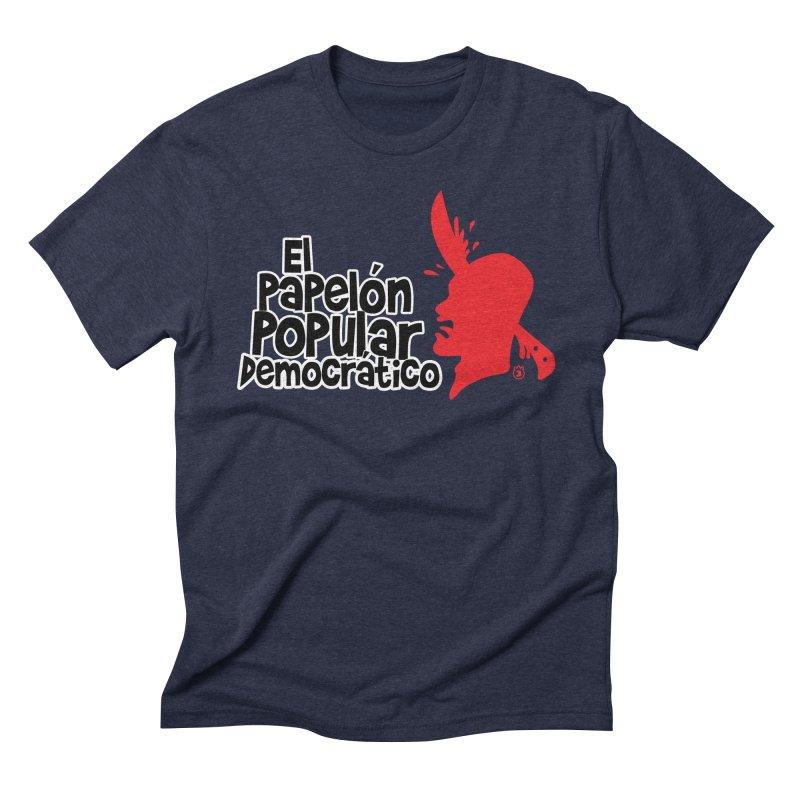 PAPELON POPULAR Men's Triblend T-Shirt by Tripleta Gourmet Clothing