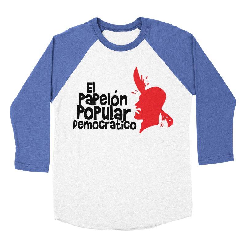 PAPELON POPULAR Women's Baseball Triblend Longsleeve T-Shirt by Tripleta Gourmet Clothing