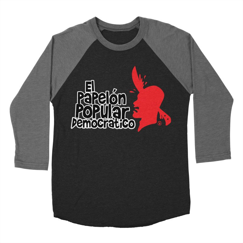 PAPELON POPULAR Women's Baseball Triblend Longsleeve T-Shirt by Tripleta Gourmet Clothing