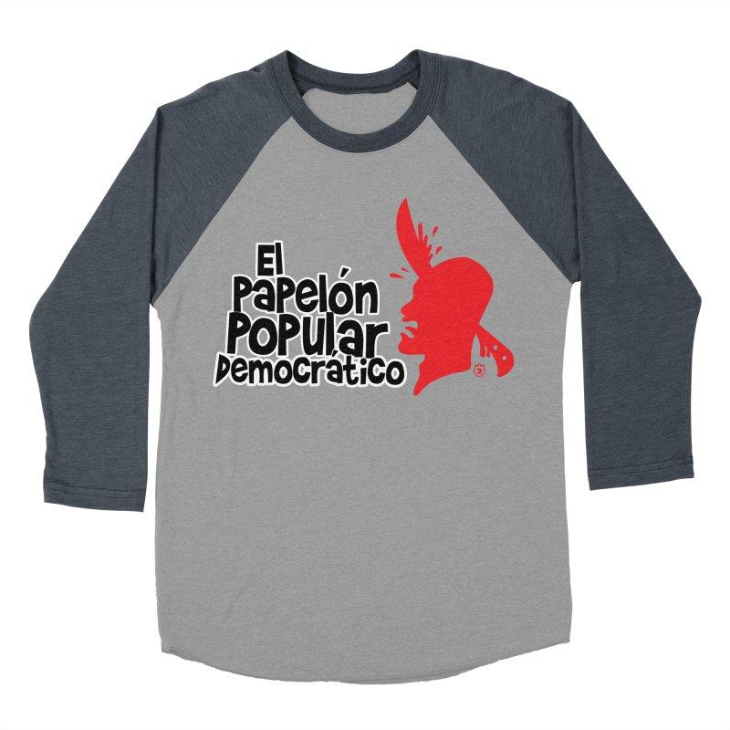 PAPELON POPULAR Men's Baseball Triblend T-Shirt by Tripleta Gourmet Clothing