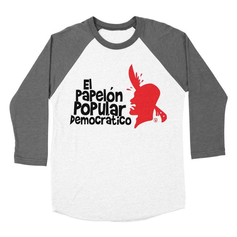 PAPELON POPULAR Men's Baseball Triblend Longsleeve T-Shirt by Tripleta Gourmet Clothing