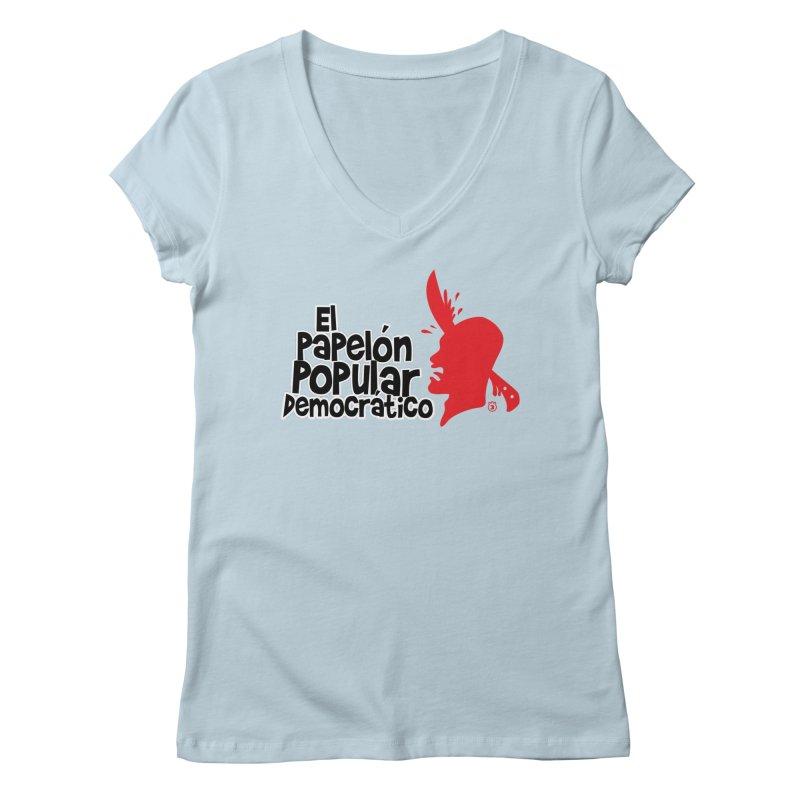 PAPELON POPULAR Women's V-Neck by Tripleta Gourmet Clothing