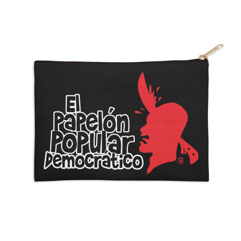 PAPELON POPULAR Accessories Zip Pouch by Tripleta Gourmet Clothing