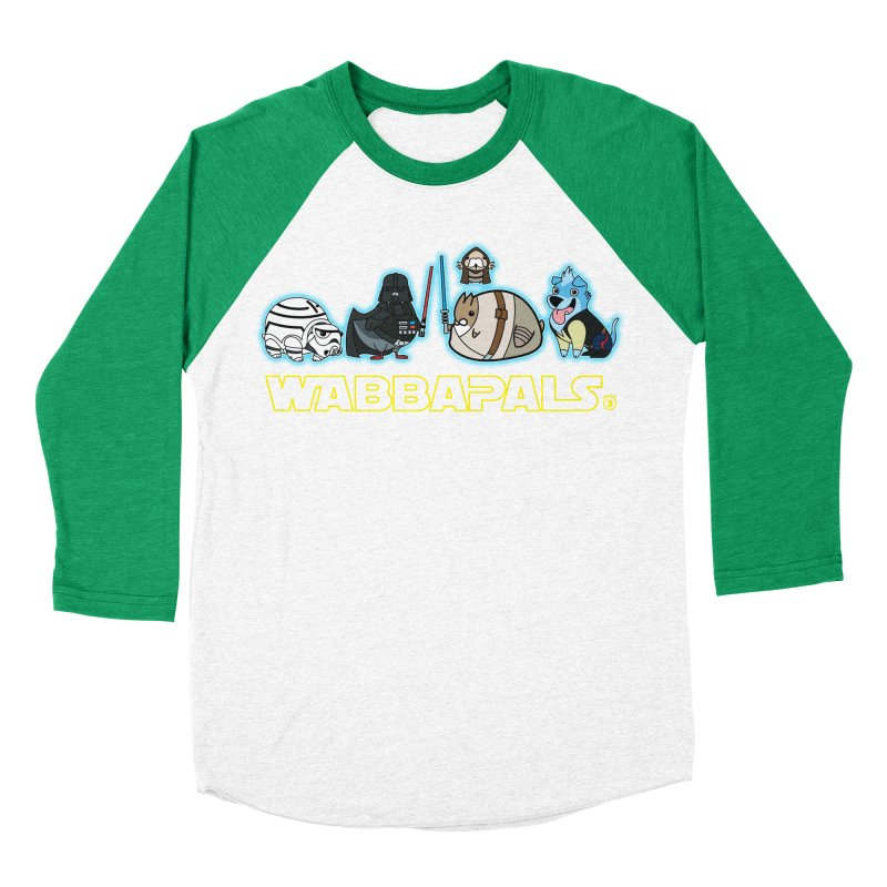 STAR WABBA WARS Men's Baseball Triblend T-Shirt by Tripleta Gourmet Clothing