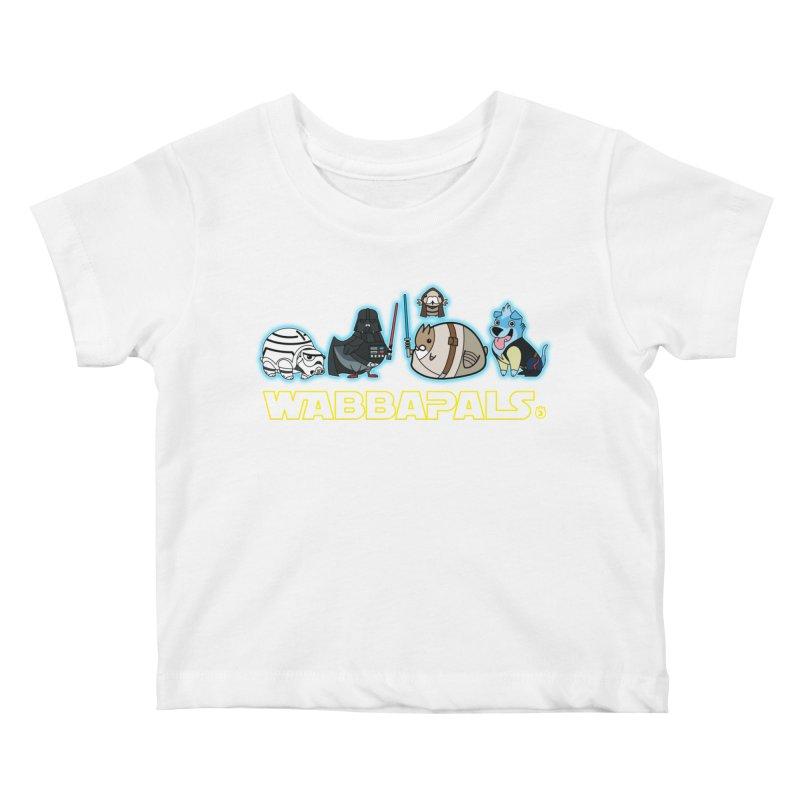 STAR WABBA WARS Kids Baby T-Shirt by Tripleta Gourmet Clothing
