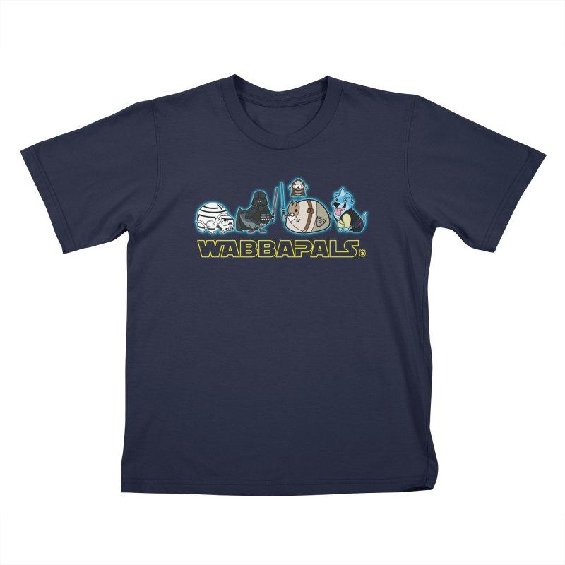 STAR WABBA WARS Kids T-shirt by Tripleta Gourmet Clothing