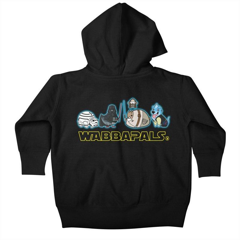 STAR WABBA WARS Kids Baby Zip-Up Hoody by Tripleta Gourmet Clothing