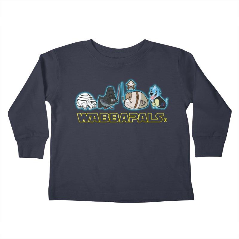 STAR WABBA WARS Kids Toddler Longsleeve T-Shirt by Tripleta Gourmet Clothing