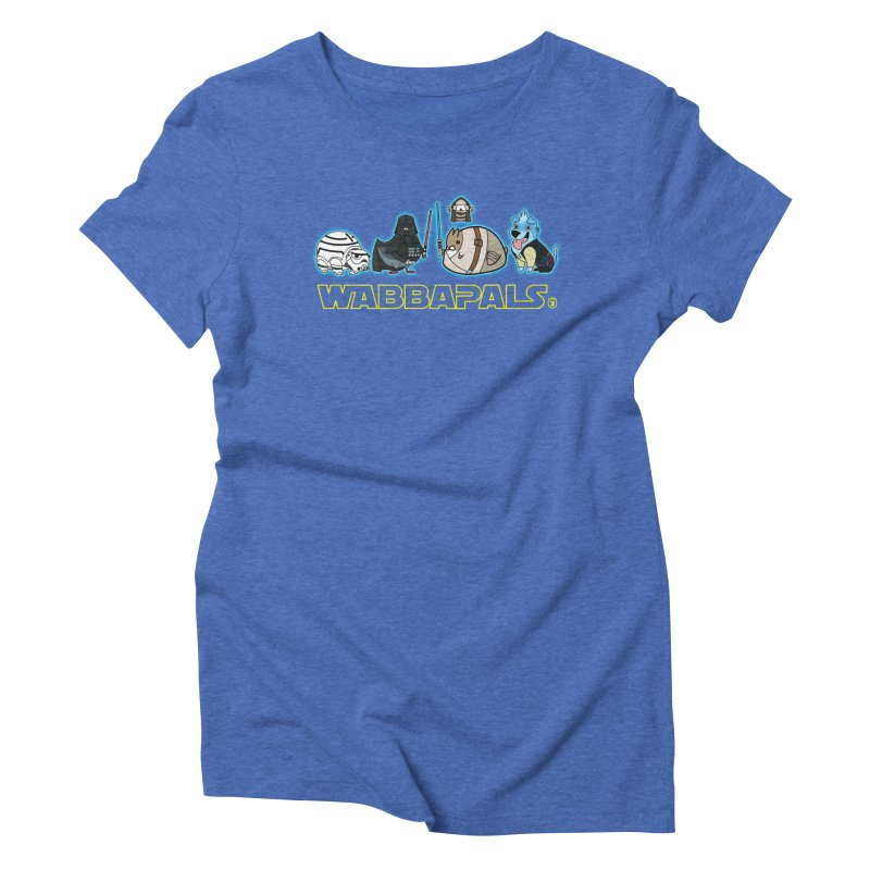 STAR WABBA WARS Women's Triblend T-shirt by Tripleta Gourmet Clothing