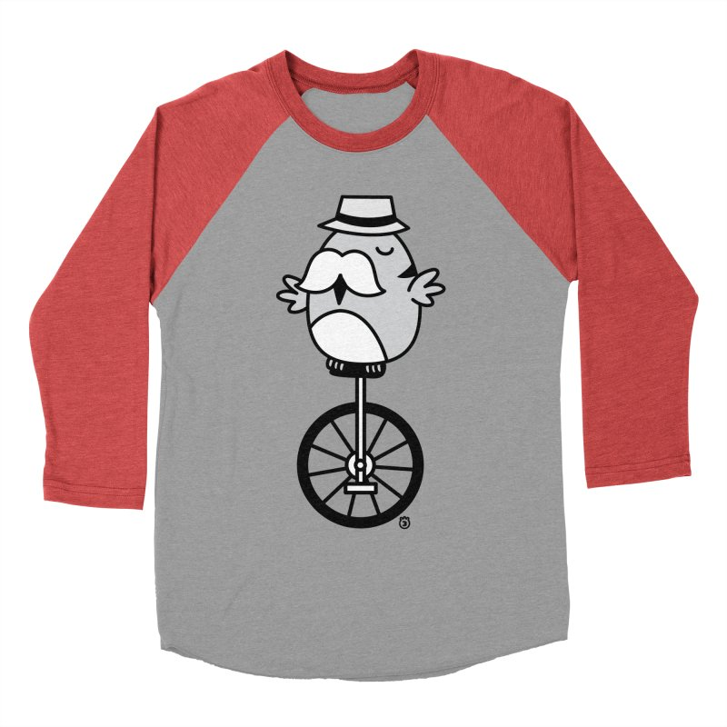 UNICYCLE BUCHO Men's Baseball Triblend T-Shirt by Tripleta Gourmet Clothing
