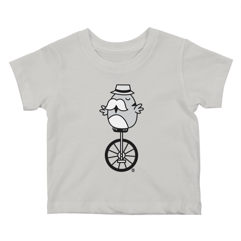 UNICYCLE BUCHO Kids Baby T-Shirt by Tripleta Gourmet Clothing