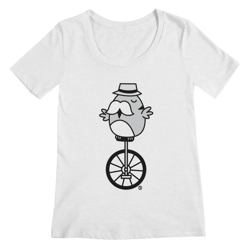 UNICYCLE BUCHO Women's Scoopneck by Tripleta Gourmet Clothing