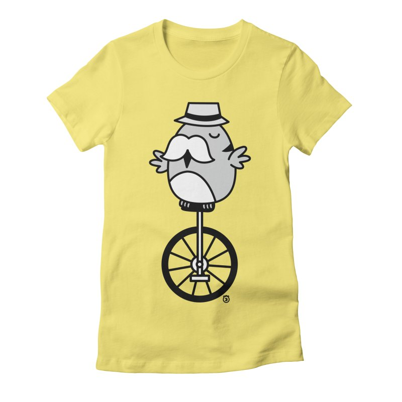UNICYCLE BUCHO Women's Fitted T-Shirt by Tripleta Gourmet Clothing