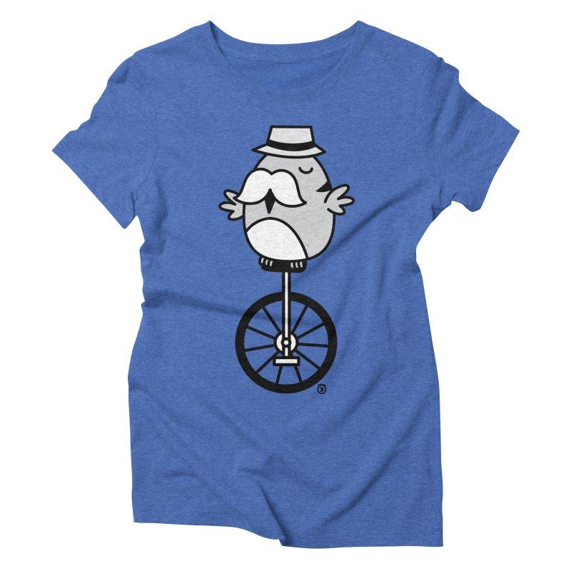 UNICYCLE BUCHO Women's Triblend T-shirt by Tripleta Gourmet Clothing