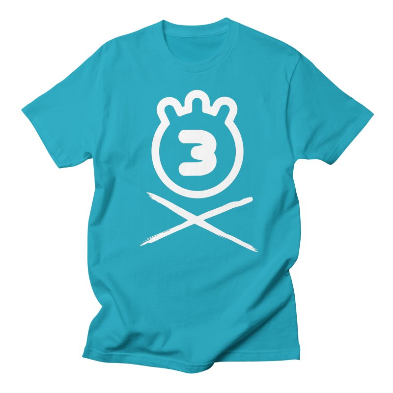 TRIPLETA X in Men's Regular T-Shirt Cyan by Tripleta Gourmet Clothing
