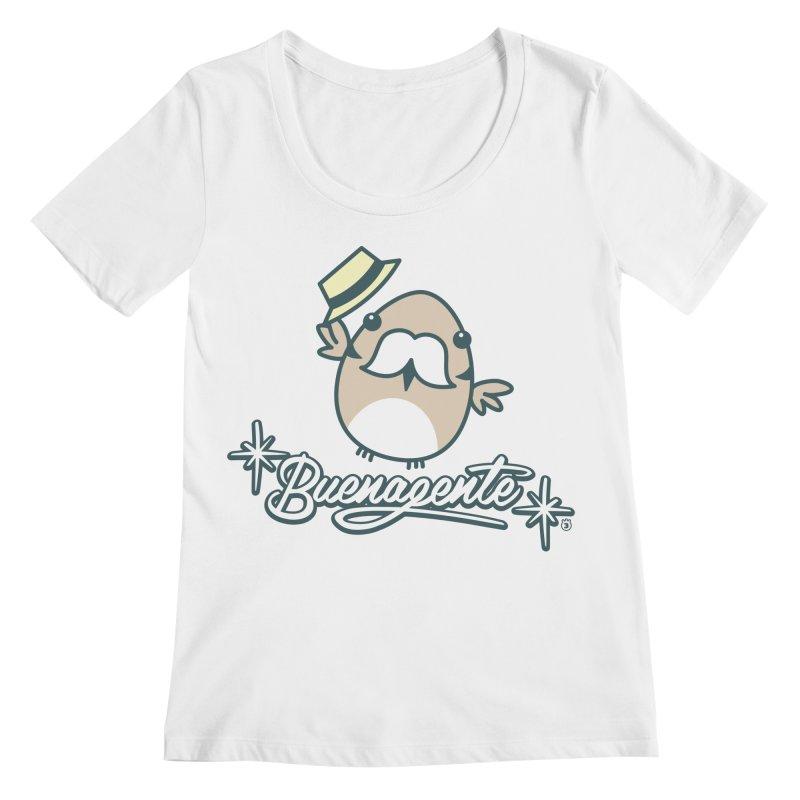 BUENAGENTE Women's Regular Scoop Neck by Tripleta Studio Shop