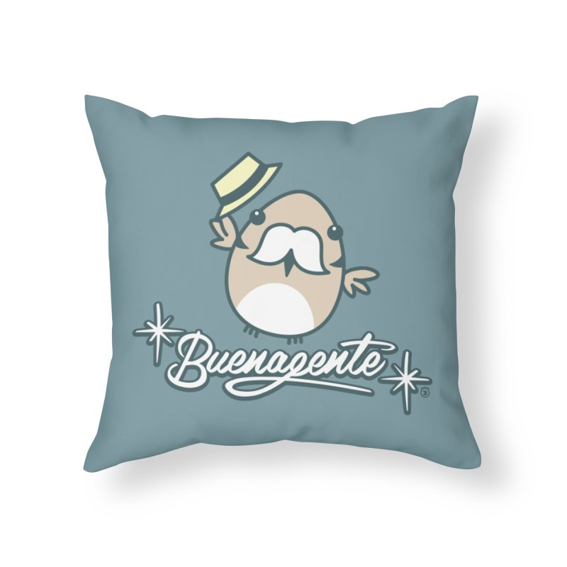 BUENAGENTE Home Throw Pillow by Tripleta Gourmet Clothing