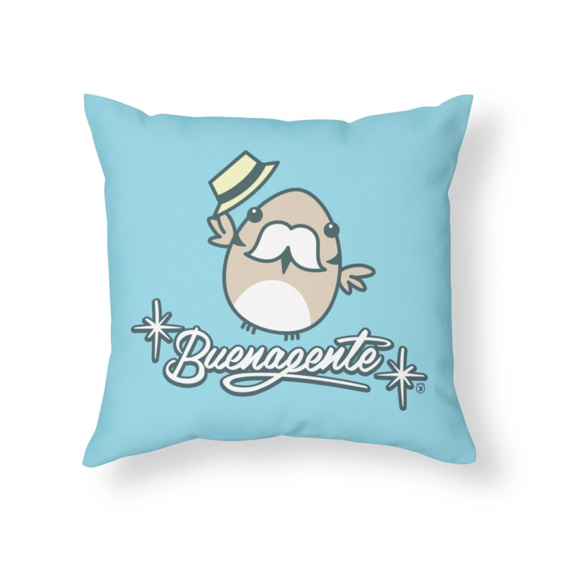 BUENAGENTE Home Throw Pillow by Tripleta Studio Shop