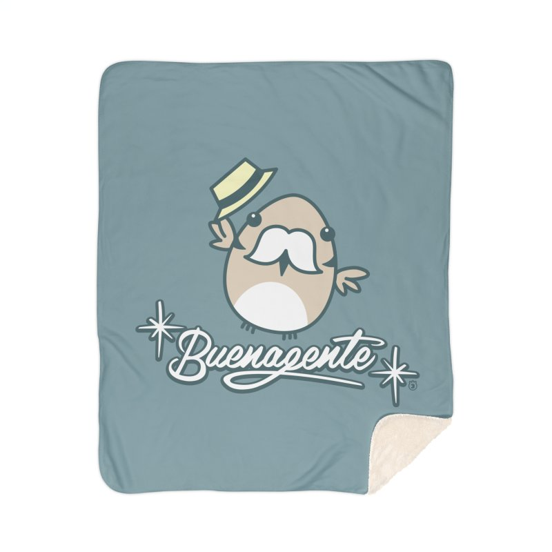 BUENAGENTE Home Sherpa Blanket Blanket by Tripleta Studio Shop