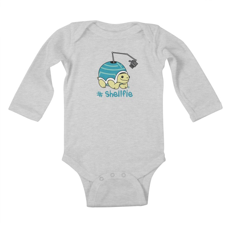 SHELLFIE Kids Baby Longsleeve Bodysuit by Tripleta Gourmet Clothing