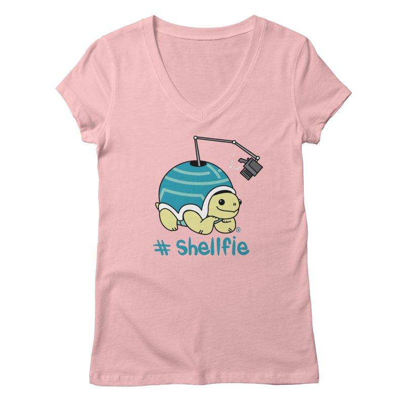 SHELLFIE Women's Regular V-Neck by Tripleta Gourmet Clothing