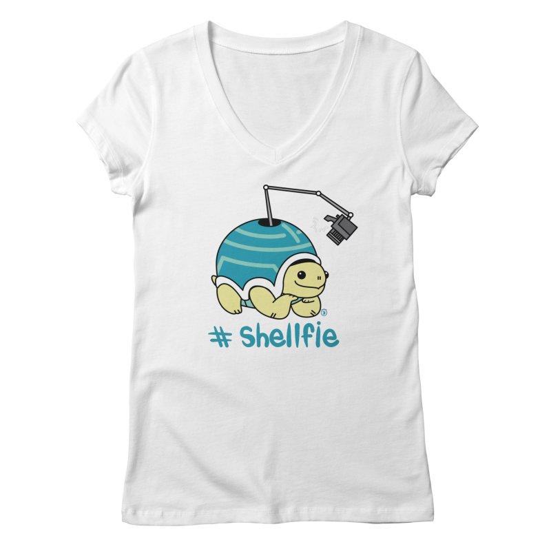 SHELLFIE Women's Regular V-Neck by Tripleta Studio Shop