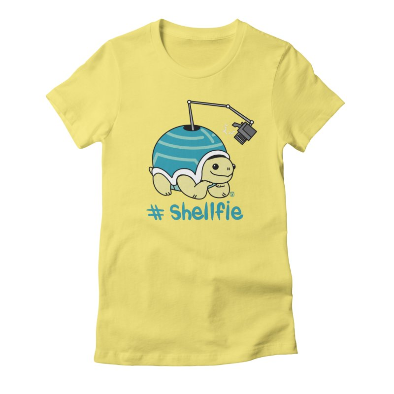 SHELLFIE in Women's Fitted T-Shirt Light Yellow by Tripleta Gourmet Clothing