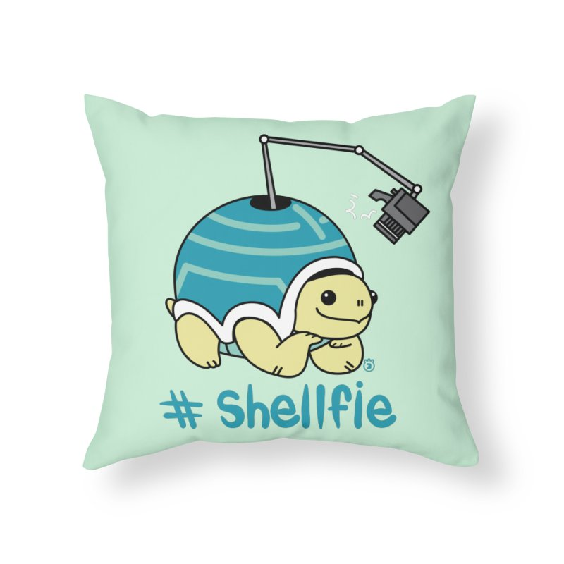 SHELLFIE Home Throw Pillow by Tripleta Gourmet Clothing