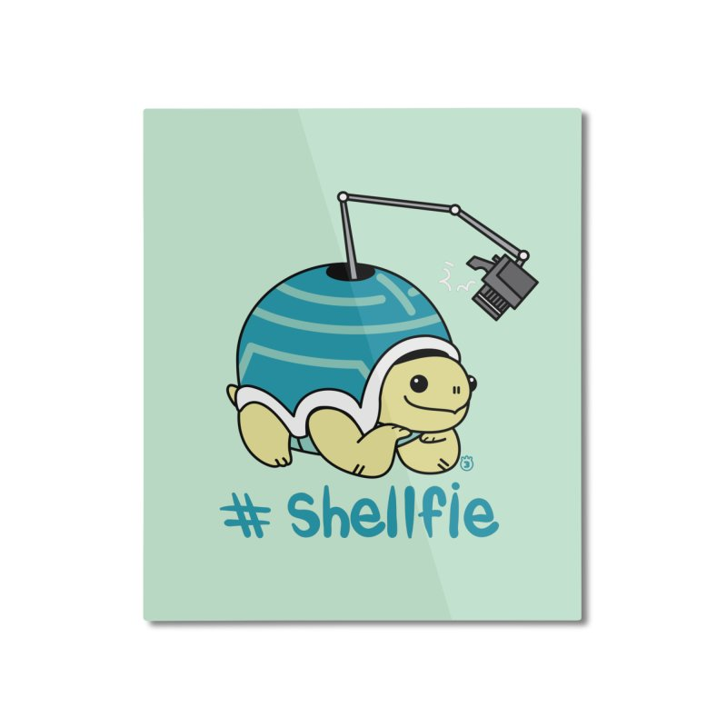SHELLFIE Home Mounted Aluminum Print by Tripleta Gourmet Clothing