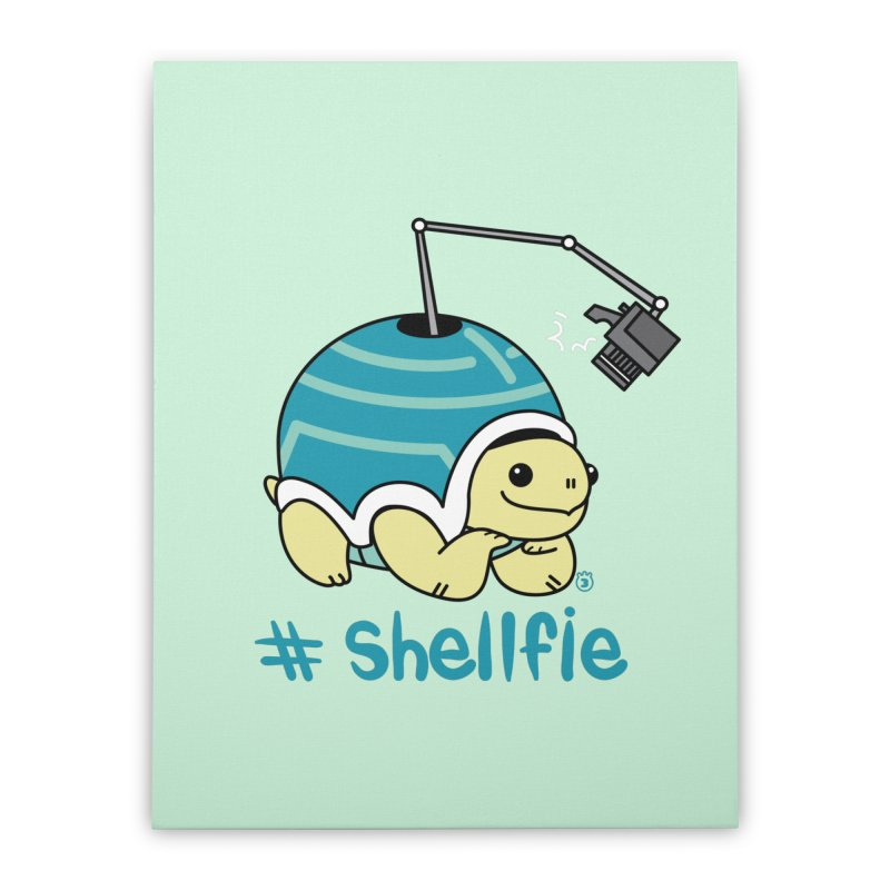 SHELLFIE Home Stretched Canvas by Tripleta Gourmet Clothing