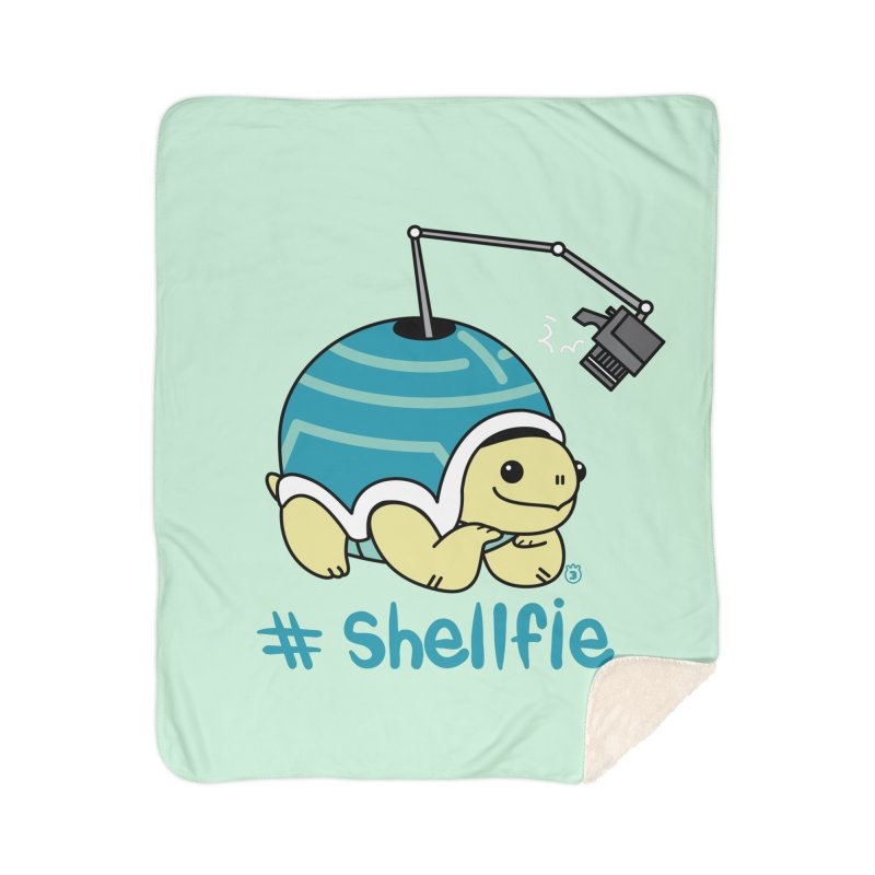 SHELLFIE Home Sherpa Blanket Blanket by Tripleta Studio Shop