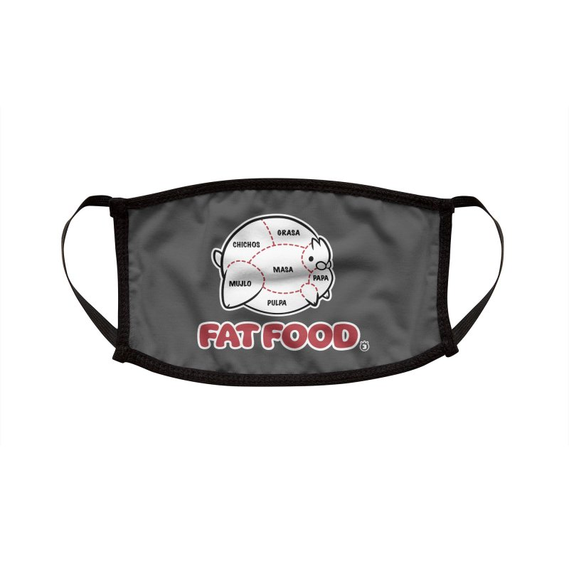 FAT FOOD Accessories Face Mask by Tripleta Studio Shop