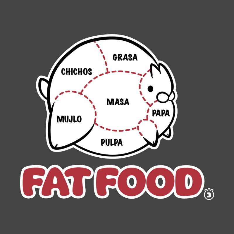 FAT FOOD Men's T-Shirt by Tripleta Gourmet Clothing