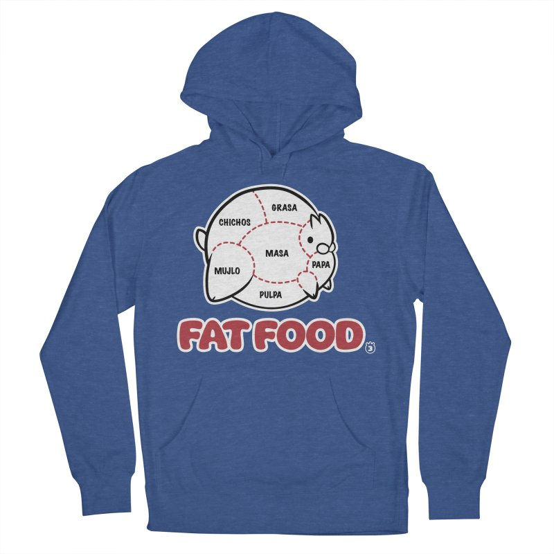 FAT FOOD Women's French Terry Pullover Hoody by Tripleta Gourmet Clothing