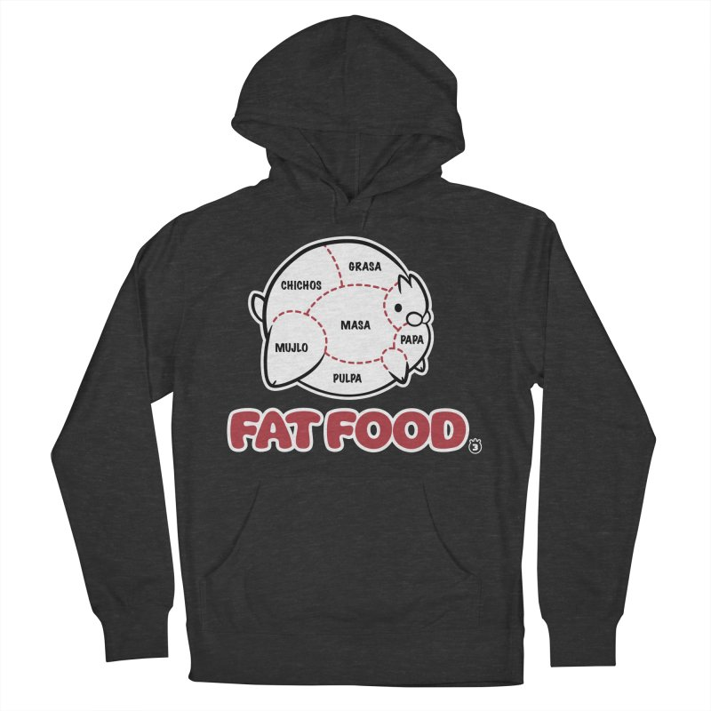 FAT FOOD Men's French Terry Pullover Hoody by Tripleta Studio Shop