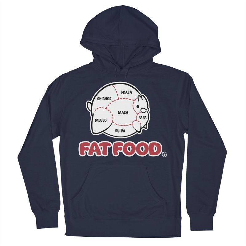 FAT FOOD Men's French Terry Pullover Hoody by Tripleta Gourmet Clothing