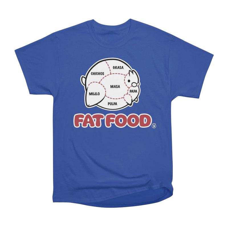 FAT FOOD Women's Heavyweight Unisex T-Shirt by Tripleta Gourmet Clothing